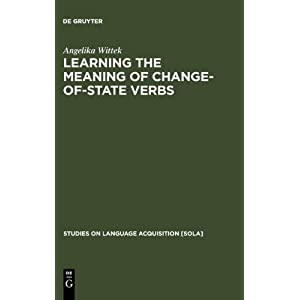 Learning the Meaning of Change-of-state Verb