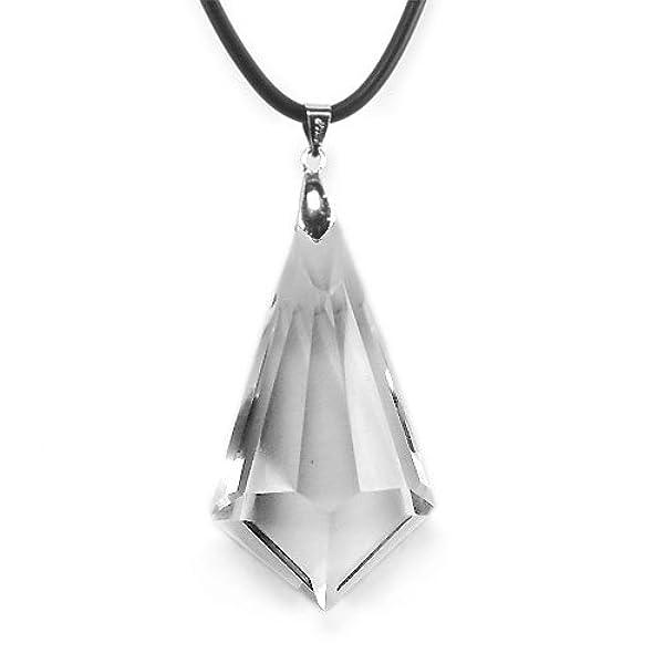 赛伊诺-天然白水晶切面吊坠-爱之神剑