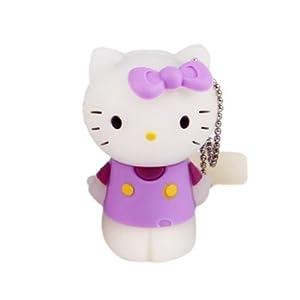 oae 卡通可爱猫16gu盘 创意站姿凯蒂猫u盘16g优盘迷你 16gb 紫色