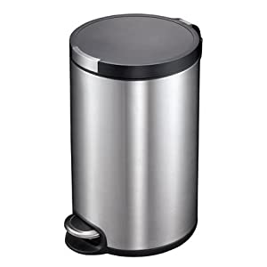 eko经典家用不锈钢垃圾桶静音欧式厨房卧室客厅卫生