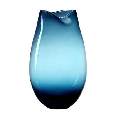 人工吹制欧式彩色玻璃花罐蓝色鱼