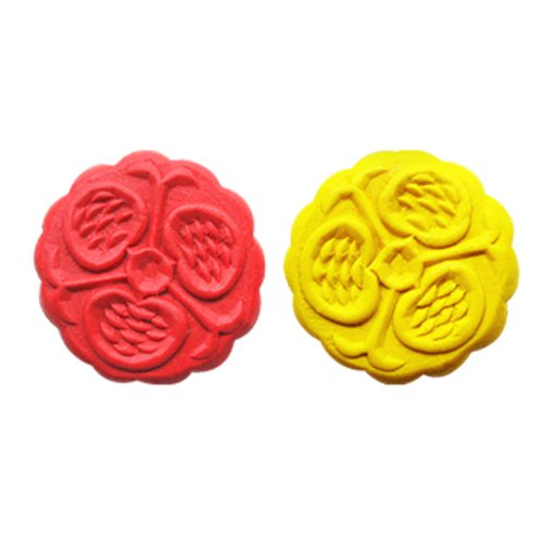 diy月饼冰箱贴手工材料包 中秋节礼盒礼品仿真彩泥玩具木质制模具 (2