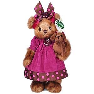 秋冬新款贝瑞14寸抱腊肠狗紫裙女泰迪熊公仔毛绒玩具创意生日礼物新年