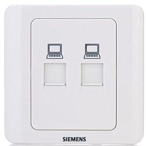 99元买了siemens 西门子远景系列五孔插座8只装+2只单开单控