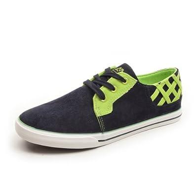 韩版男式帆布鞋 车缝线拼色平跟男生布鞋子a350