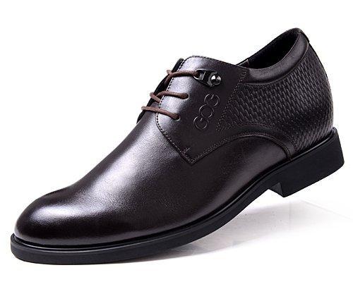 GOG(高哥) 新款尖头系带内增高男鞋男式商务皮鞋GF807