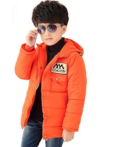 橘色带帽卫衣搭配图片
