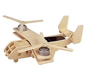 若态科技 木质拼装太阳能飞机模型军事迷最爱鱼鹰运输