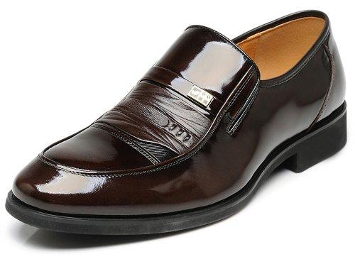 FGN 富贵鸟 2014新款英伦商务正装皮鞋 亮面套脚休闲皮鞋B397503