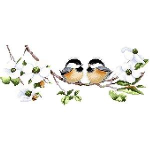 万众家园 十字绣 客厅动物画 情侣鸟 喜鹊 9ct 朵拉线