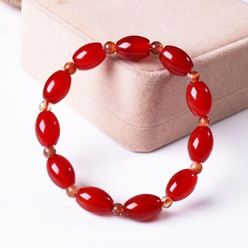 晶隆福 天然红玛瑙米珠手链 款式时尚 增添魅力 助事业 辟邪护身[102821]-图片