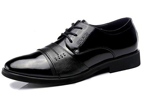Guciheaven 英伦时尚男士皮鞋 亮面漆皮 奢华高端头层皮男鞋 商务休闲鞋 男士正装鞋 婚鞋男