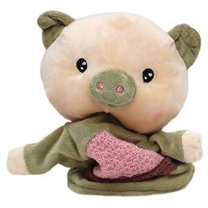 正版可爱兔子,小象,小猴手偶玩具 婴幼儿早教/益智/安抚玩偶 毛绒套手