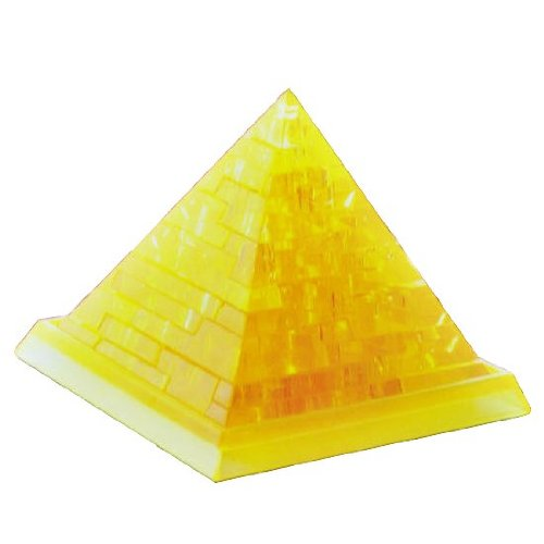 汉祥领智水晶积木3d立体水晶金字塔拼图模型益智玩具生日礼物 (黄色)
