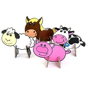 玩具堡 儿童diy制作 保罗3d动物 7240 彩色