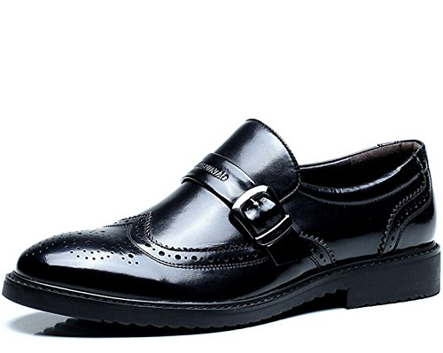 FUGUINIAO 富贵鸟 英伦男士低帮透气套脚商务休闲鞋皮鞋 复古经典真皮正装鞋 英伦头层牛皮男鞋