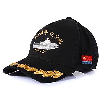封狼居胥 航母辽宁舰纪念棒球帽 中国海军棒球帽子全棉高档刺绣帽