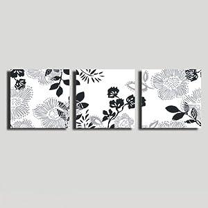 美时美刻 黑白图案无框画抽象画客厅沙发背挂画装饰画
