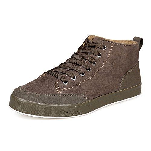 春秋季男士帆布鞋 男鞋韩版潮流高帮鞋子 英伦休闲鞋保暖板鞋潮鞋