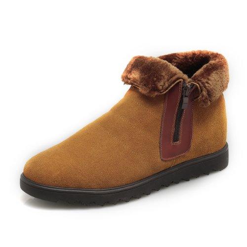 GOG 高哥内增高鞋男鞋棉鞋皮鞋 冬款英伦男式时尚雪地靴休闲男鞋 增高6.5cm 增高鞋 雪地靴 A41351