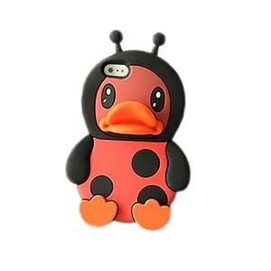 zendoo 苹果iphone5大黄鸭手机壳 4s卡通硅胶套 小情侣立体可爱萌软壳