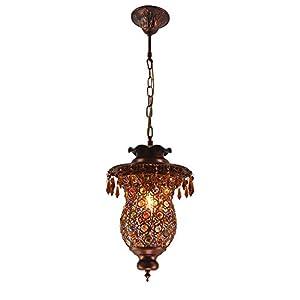 欧式宫廷奢华创意吊坠铁艺复古装饰灯