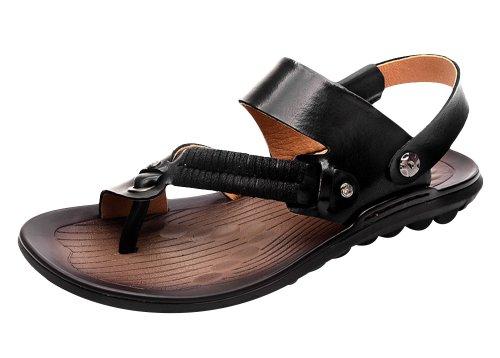VANCAMEL 西域骆驼 2014夏季新款凉鞋手工真皮沙滩鞋休闲凉拖鞋 D1324101100