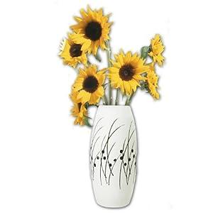 陶艺手绘花瓶(圆形)