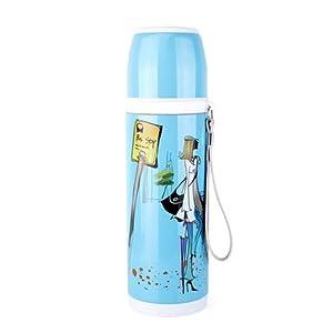 光一 不锈钢双层内胆保温杯 儿童杯子 手绘韩国风情 男士女士情侣水