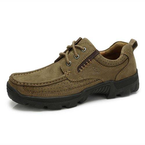 Camel 骆驼 男鞋 真皮磨砂牛皮 户外日常休闲男鞋 新款  超舒适男士日常休闲鞋皮鞋 82308601