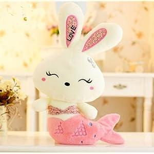 可爱love兔公仔美人鱼兔 小白兔毛绒玩具公仔送女生日礼物 (70厘米