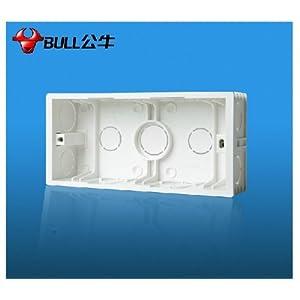 bull 公牛开关插座底盒 厨房专用插座暗盒 g10e603专用底盒 h11