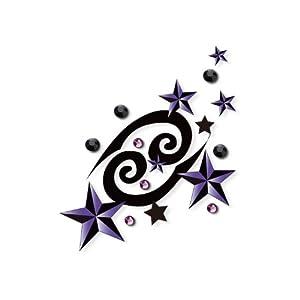 art plus 施华洛世奇元素水晶五角星星纹身贴纸 彩绘