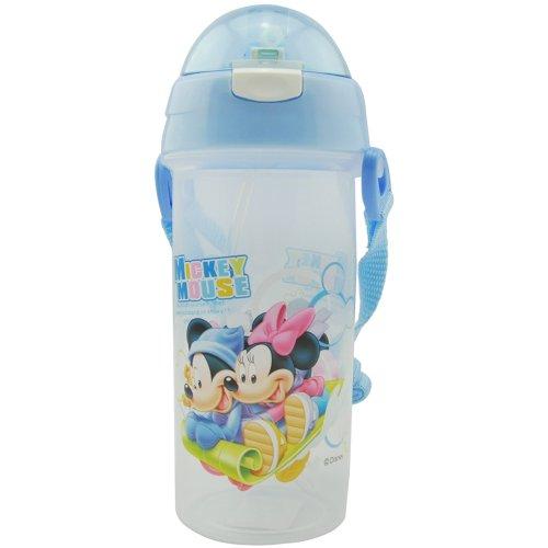 新款迪士尼夏季水杯儿童水壶软吸管杯 安全带提绳HM1705-1-图片
