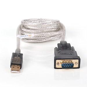 8米usb转rs232串口线db9针接口转接线usb转console线linux 符合usb 2.