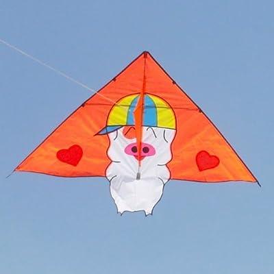 百特 风筝 最新款儿童风筝 孩子喜欢的小猪麦兜 可爱好飞 萌翻拉 仅