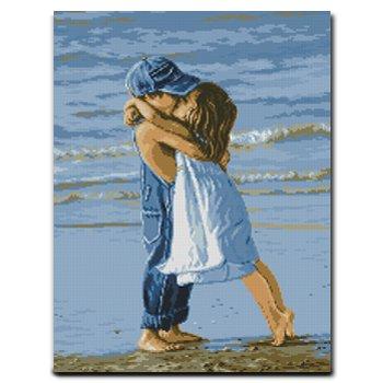 阿卡手工 十字绣爱情系列 海边小情侣