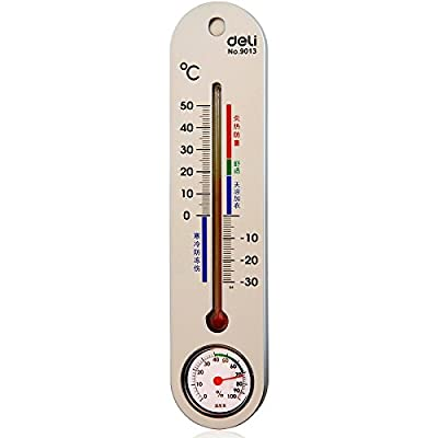 deli 得力 9013 室内外温度计