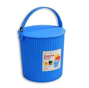 新陵2202多功能炫彩水桶大号加厚超结实塑料水桶提水
