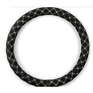 汉克斯 黑白色 pu 黑色内圈价格 汽车方向盘套 四季通用方向盘套 白色