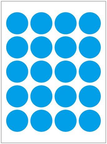 粘性标签纸 小圆点标签 圆点标贴20mm 12张/包 天蓝色贴图片