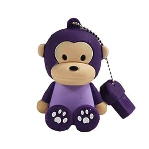 oae 卡通猴子8gu盘 可爱创意坐姿猴u盘8g优盘迷你 8gb 紫色