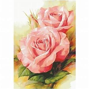 客专卖厅大画书房卧室欧式花卉油画粉玫瑰