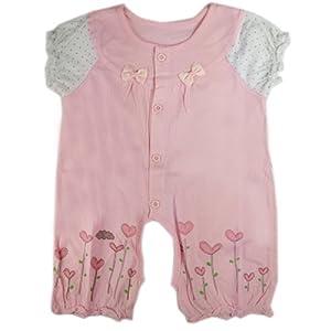 2013小数点新款女童夏装蝴蝶连身衣婴儿短袖哈衣