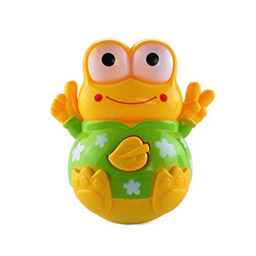 儿童玩具  超可爱婴幼儿玩具青蛙音乐灯光摇摆不倒翁 (黄色青蛙)-图片