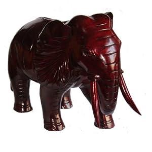 红木工艺品*大象*吉祥如意*木雕动物*风水摆件*开业