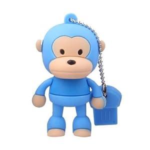 oae 卡通猴子 8gu盘可爱创意 站姿猴u盘8g优盘迷你 正品 8gb 蓝色