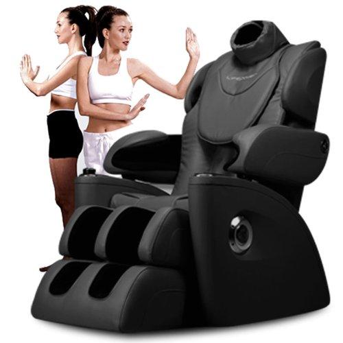 生命动力LP5400I零重力太空舱 家用全身豪华3D按摩椅 头部按摩 脚底滚轮 音乐同步按摩(黑色)正品特价包邮包安装  买就送:600元的抬上楼服务、168元的按摩椅专用地毯、168元的按摩椅专用防尘套-图片