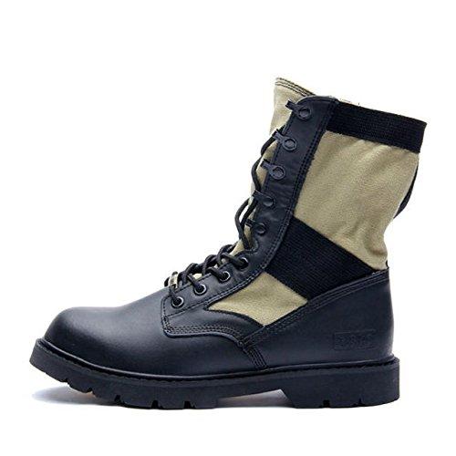 z.suo 英伦风范潮流男靴 美军陆战队军靴战地靴 全牛皮骑士靴 军靴工装靴 真皮靴系带靴 沙漠靴