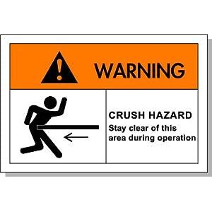 安全标识贴纸 机械标识设备标牌操作期间请勿靠近撞击危险en-l005